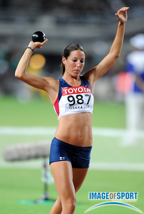 Aug 25, 2007; Osaka, JAPAN; Diana Pickler (USA) had a best throw of 36-9 3/4 (11.22m) in the IAAF World Championships at Nagai Stadium. Mandatory Credit: Kirby Lee/Image of Sport-US PRESSWIRE