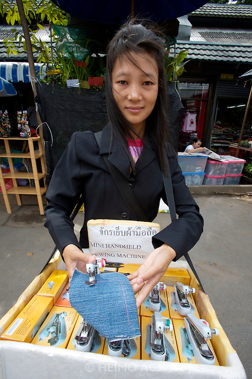Chatuchak Sunday Market. Tiny sewing machine.