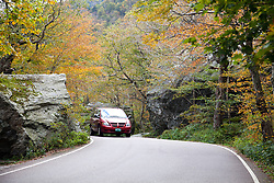 """Driving VT SH 108 is challenging at the narrow top of Smugglers' Notch.  At the sides of the road lies the Smugglers' Cave area, a huge boulder field with trees adding grace notes.<br /> From Wikipedia: ...""""a narrow notch (mountain pass) running adjacent to Sterling Mountain, which smugglers used many years ago. Smugglers' Notch is nicknamed Smuggs. It consists of three mountains: Morse Mountain, Madonna and Sterling Mountains."""