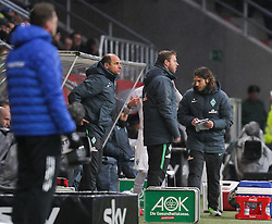 20.02.2016, Audi Sportpark, Ingolstadt, GER, 1. FBL, FC Ingolstadt 04 vs SV Werder Bremen, 22. Runde, im Bild Lange Gesichter auf der Werderbank: Cheftrainer Viktor Skripnik (Werder Bremen), Co-Trainer Florian Kohfeldt (Werder Bremen) und Co-Trainer Torsten Frings (Werder Bremen) // during the German Bundesliga 22nd round match between FC Ingolstadt 04 and SV Werder Bremen at the Audi Sportpark in Ingolstadt, Germany on 2016/02/20. EXPA Pictures © 2016, PhotoCredit: EXPA/ Eibner-Pressefoto/ Strisch<br /> <br /> *****ATTENTION - OUT of GER*****