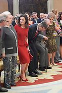 Princess Pilar de Borbon, Queen Letizia of Spain, King Felipe VI of Spain, King Juan Carlos of Spain, Queen Sofia of Spain, Princess Elena de Borbon attend National Sport Awards 2017 at El Pardo Royal Palace on January 10, 2019 in Madrid, Spain