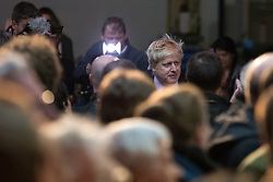 "© Licensed to London News Pictures . 15/04/2016 . Manchester , UK . BORIS JOHNSON arrives to speak at a "" Vote Leave "" rally at Old Granada Studios , in Manchester . Photo credit: Joel Goodman/LNP"