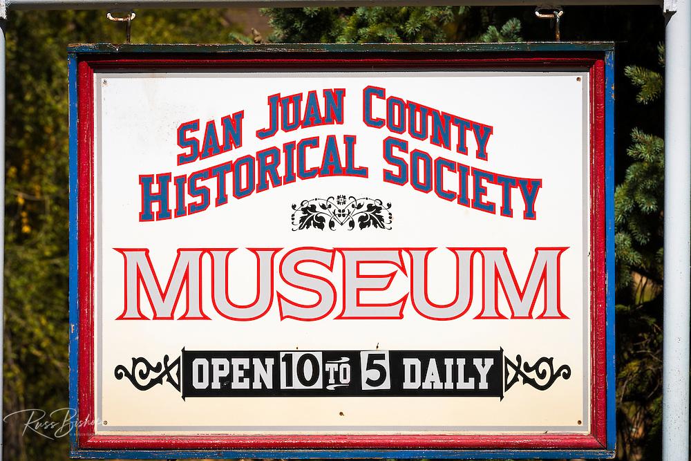 San Juan County Historical Society Museum, Silverton, Colorado USA