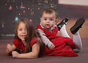 Christmas Portraits of Eva and Noah Concepcion photographed by Bill Shaw.