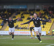 Kyle Benedictus celebrates after putting Dundee two ahead - Livingston v Dundee - SPFL Championship at Almondvale <br />  - &copy; David Young - www.davidyoungphoto.co.uk - email: davidyoungphoto@gmail.com