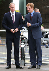 Image licensed to i-Images Picture Agency. 08/07/2014. London, United Kingdom. The Duke of Cambridge and Prince Harry  arriving at the Business in the Community Awards Gala in London. Picture by Stephen Lock / i-Images