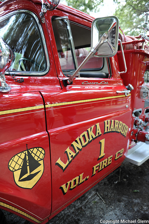 01 Aug. 2015 Lanoka Harbor USA // LHFD #1 looking sharp as a tack at the LHFD 75th anniversary and housing of their new rescue  //  Michael Glenn / Glenn Images