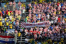 Torcida da Croácia na partida contra a Croácia na estréia da Copa do Mundo 2014, na Arena Corinthians, em São Paulo. FOTO: Jefferson Bernardes/ Agência Preview