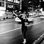 Girl yelling a cab