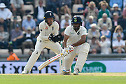 Wicket - Ravichandran Ashwin of India is bowled by Moeen Ali of England during day two of the fourth SpecSavers International Test Match 2018 match between England and India at the Ageas Bowl, Southampton, United Kingdom on 31 August 2018.