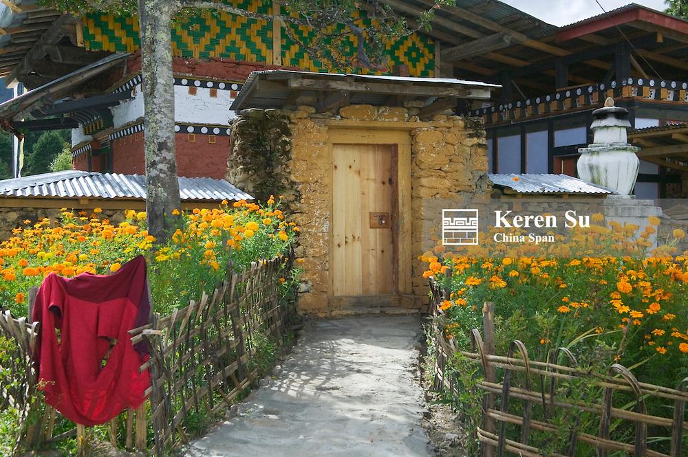 A local residental house, Bumthang, Bhutan