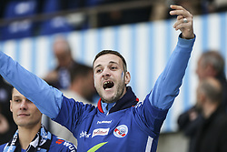 April 28, 2018 - Strasbourg, France - supporters Racing Strasbourg.during the French L1 football match between Strasbourg (RCSA) and Nice (OGC) on April 28, 2018 at the Meinau stadium in Strasbourg, eastern France. (Credit Image: © Elyxandro Cegarra/NurPhoto via ZUMA Press)