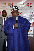 """l to r: Former President of Nigeria, The Honorable Olusegun Obasanjo at the opening reception of The 12th Annual RainbowPUSH Wall Street Project Economic Summit """" Fallout From The Bailout: A New Day in Washington """""""