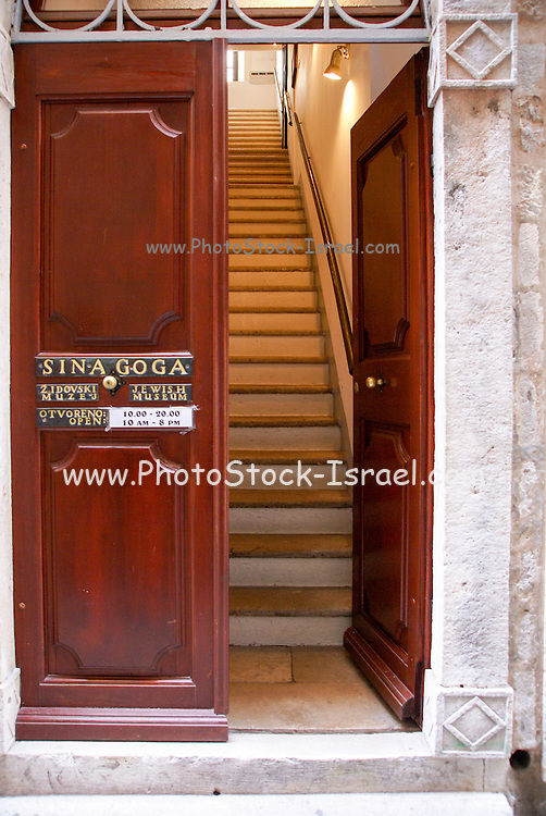 Croatia, Dubrovnik, the synagogue in the Walled Old City