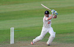 Sussex's Luke Wright drives the ball. - Photo mandatory by-line: Harry Trump/JMP - Mobile: 07966 386802 - 05/07/15 - SPORT - CRICKET - LVCC - County Championship Division One - Somerset v Sussex- The County Ground, Taunton, England.