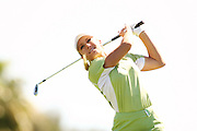 March 26, 2005; Rancho Mirage, CA, USA;  Natalie Gulbis tees off during the third round of the LPGA Kraft Nabisco golf tournament held at Mission Hills Country Club.  <br />Mandatory Credit: Photo by Darrell Miho <br />&copy; Copyright Darrell Miho