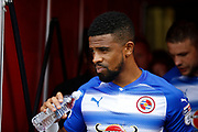 Reading Forward Garath McCleary (12) during the EFL Sky Bet Championship match between Brentford and Reading at Griffin Park, London, England on 16 September 2017. Photo by Andy Walter.