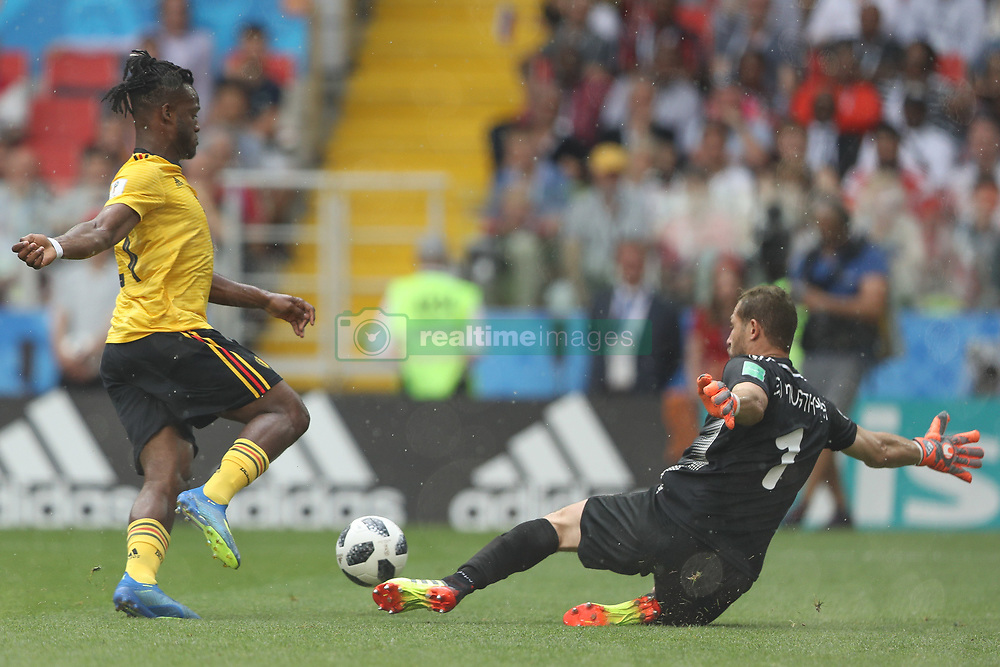 June 23, 2018 - Moscou, Rússia - MOSCOU, MO - 23.06.2018: BÉLGICA Y TÚNEZ - Batshuayi and Ben Mustapha during the match between Belgium and Tunisia valid for the 2018 World Cup held at the Otkrytie Arena (Spartak) in Moscow, Russia. (Credit Image: © Ricardo Moreira/Fotoarena via ZUMA Press)
