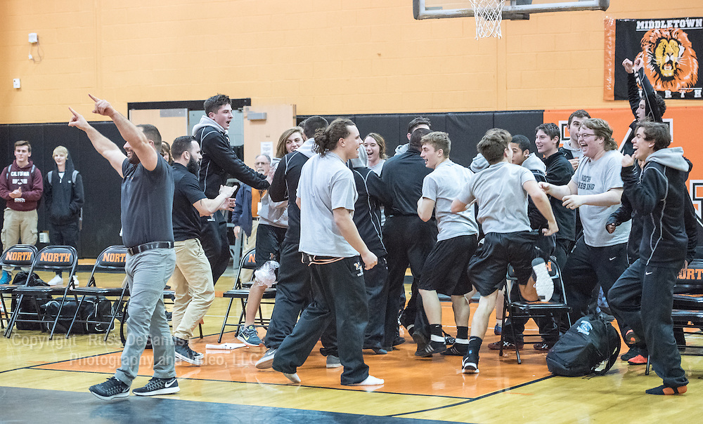 Middletown North defeated CBA, 34-29, in  wrestling on Wednesday, January 27, 2016. / ©2016 Russ DeSantis Photography and Video, LLC