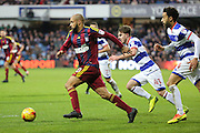 Ipswich Town striker David McGoldrick (10) dribbling into the box during the EFL Sky Bet Championship match between Queens Park Rangers and Ipswich Town at the Loftus Road Stadium, London, England on 2 January 2017. Photo by Matthew Redman.