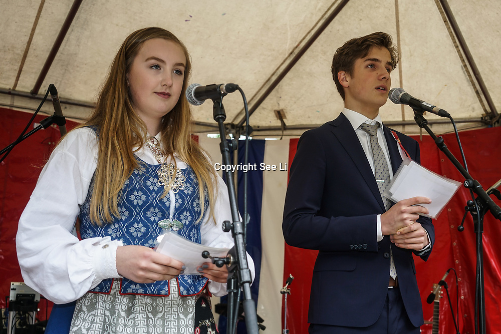 London,England,UK. 17th May 2017. London Celebrates Norwegian Constitution Day On 17th May at Southwark Park. by See Li
