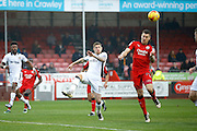 Crawley Town forward James Collins (19) scores a goal to make it 1-0 during the EFL Sky Bet League 2 match between Crawley Town and Newport County at the Checkatrade.com Stadium, Crawley, England on 17 December 2016. Photo by Andy Walter.