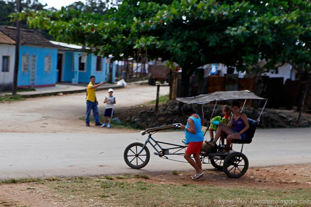 Central America, Cuba, Remedios. Bicycle Rickshaw of Remidios.