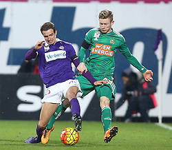 14.02.2016, Generali Arena, Wien, AUT, 1. FBL, FK Austria Wien vs SK Rapid Wien, 22. Runde, im Bild Fabian Koch (FK Austria Wien) und Florian Kainz (SK Rapid Wien) // during Austrian Football Bundesliga Match, 22nd Round, between FK Austria Vienna and SK Rapid Vienna at the Generali Arena, Vienna, Austria on 2016/02/14. EXPA Pictures © 2016, PhotoCredit: EXPA/ Thomas Haumer