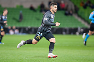 Melbourne City forward Bruno Fornaroli (23) runs for the ball at the FFA Cup quarter-final soccer match between Melbourne City FC and Western Sydney Wanderers FC at AAMI Park in Melbourne.