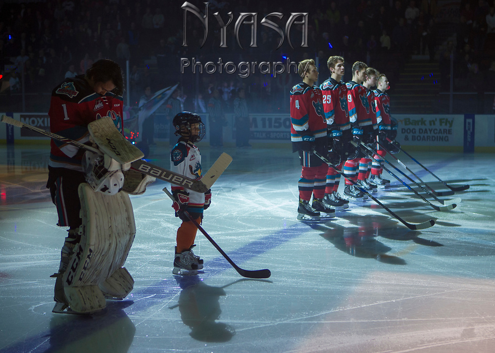 KELOWNA, CANADA - OCTOBER 27:  Pepsi Player of the game in the lineup at the Kelowna Rockets game on October 27, 2017 at Prospera Place in Kelowna, British Columbia, Canada.  (Photo By Cindy Rogers/Nyasa Photography,  *** Local Caption ***