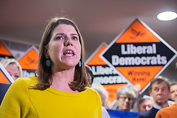 © Licensed to London News Pictures. 10/12/2019. Bath, Bath and North East Somerset, UK. General Election 2019; JO SWINSON, leader of the Liberal Democrats Party, at a rally with Liberal Democrat activists in Bath at the Bailbrook House Hotel, followed by national canvassing in the constituency. She discussed the findings that Brexit is costing the British public £350 million a week, money that could be invested in the NHS. The Bath MP before the election was called was the Lib Dems Wera Hobhouse. Photo credit: Simon Chapman/LNP.