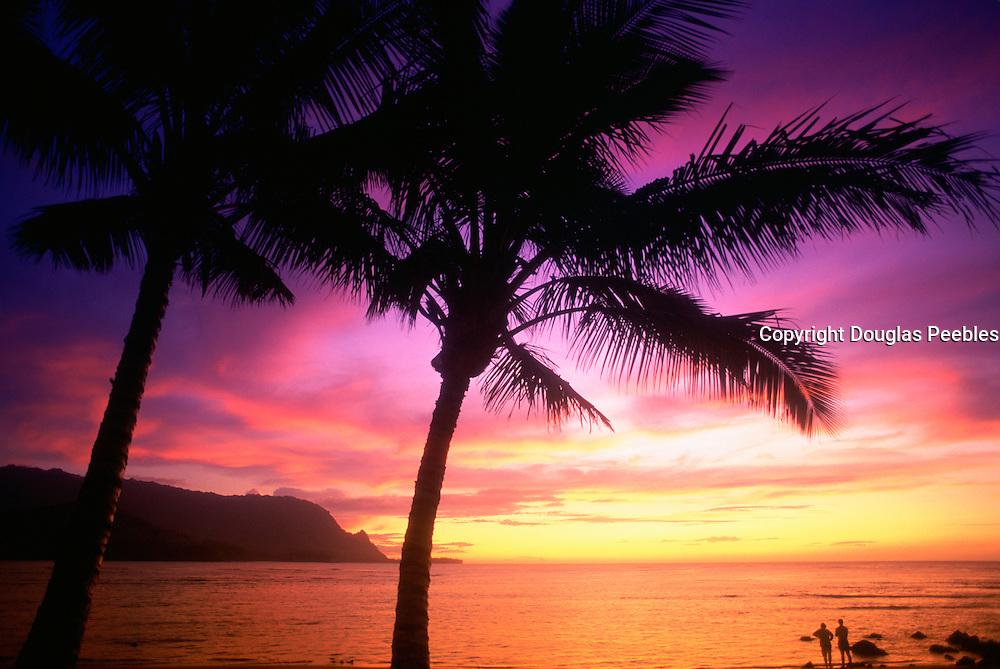Sunset, Hanalei Bay, Kauai, Hawaii, USA<br />