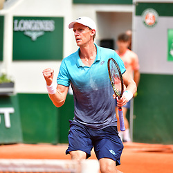 Kevin Anderson of South Africa during Day 9 of the French Open 2018 on June 3, 2018 in Paris, France. (Photo by Dave Winter/Icon Sport)