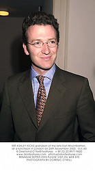 MR ASHLEY HICKS grandson of the late Earl Mountbatten, at a luncheon in London on 24th November 2000.OJL 63