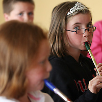 Natasha O' Brien during the tin whistle workshop at the Nell Galvin music festival in Moyasta at the weekend.<br />