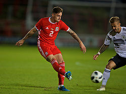 WREXHAM, WALES - Tuesday, September 10, 2019: Wales' Cameron Coxe during the UEFA Under-21 Championship Italy 2019 Qualifying Group 9 match between Wales and Germany at the Racecourse Ground. (Pic by David Rawcliffe/Propaganda)