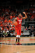 January 13, 2013: Pe'Shon Howard #21 of Maryland in action during the NCAA basketball game between the Miami Hurricanes and Maryland Terrapins at the BankUnited Center in Coral Gables, FL. The Hurricanes defeated the Terrapins 54-47.