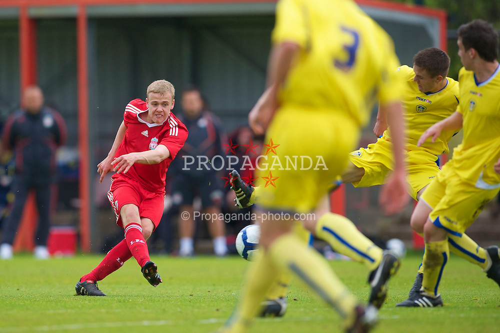 LIVERPOOL, ENGLAND - Thursday, April 29, 2010: Liverpool's Craig Roddan in action against Leeds United during the FA Academy Under-18's League at the Academy. (Photo by David Rawcliffe/Propaganda)