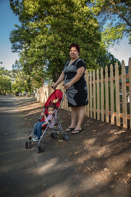 Marta Qunionez with her 14 month granddaughter, Niya, Calistoga.
