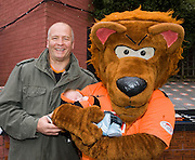 Ben Alexander Thomson (3 weeks old) and grandad (also Ben_ meet United mascot Terry the Terror  before Dundee United v Hearts, Clydesdale Bank Scottish Premier League at Tannadice Park..© David Young Photo.5 Foundry Place.Monifieth.Angus.DD5 4BB.Tel: 07765252616.email: davidyoungphoto@gmail.com.http://www.davidyoungphoto.co.uk