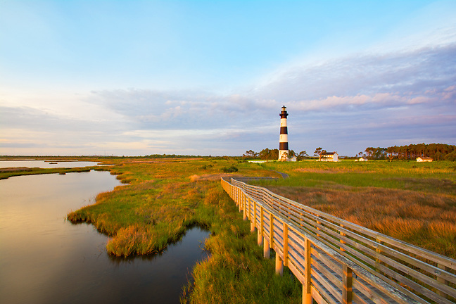A early morning at the Bodie Island Lighthouse.