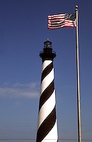 Cape Hatteras, Outer Banks,  North Carolina--Cape Hatteras Light at 210 feet, is recognized by the National Park Service as the tallest lighthouse in America. The lighthouse is one of several on the North Carolina coast that are still operational. Built between 1868 and 1870, over one million bricks were used in it's construction at a cost (then) of $167,500..