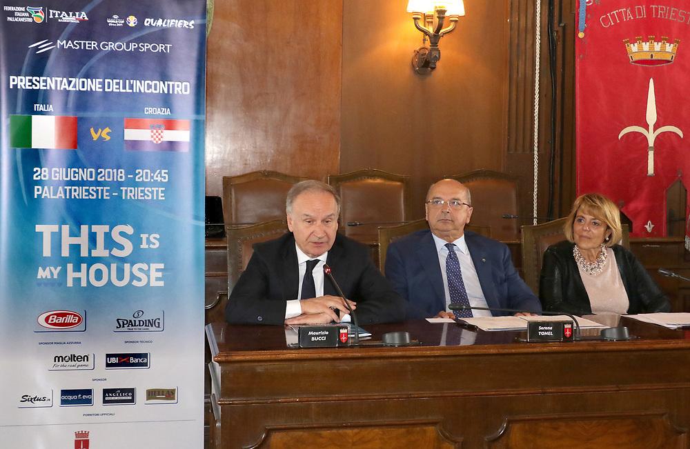 Giovanni Petrucci<br /> Conferenza Stampa Presentazione Italia - Croazia FIBA Basketball World Cup 2019 Qualifiers<br /> FIP 2018<br /> Trieste, 07/06/2018<br /> Foto Ciamillo-Castoria