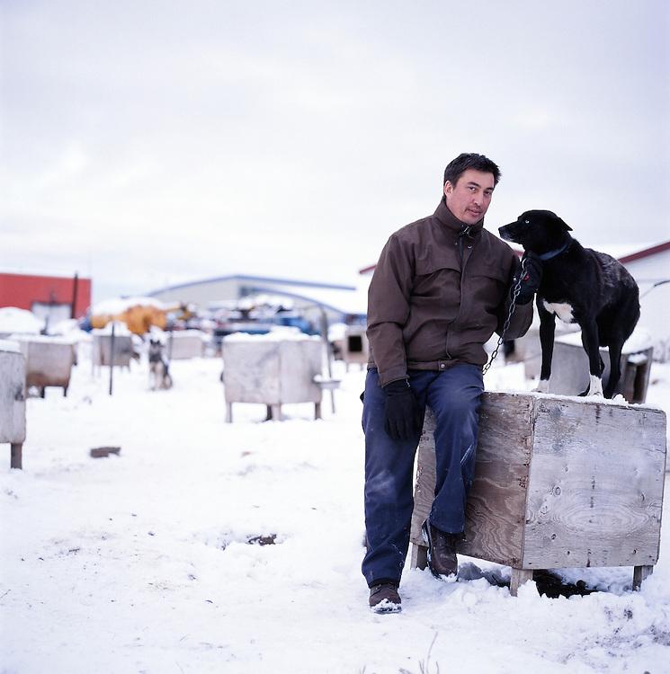 KOTZEBUE - OCTOBER 28 2009. John Baker at his home in Kotzebue, Alaska.