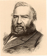James Baird (1802-1876) Scottish industrialist and ironmaster, born at Old Monkland, North Lanarkshire, Scotland. Conservative Member of Parliament for Falkirk Burghs (1850-1857). Although against unionisation of his workforce, he was interested in the education of his workers.  Engraving, 1873.