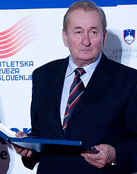 at Best Slovenian athlete of the year ceremony, on November 15, 2008 in Hotel Lev, Ljubljana, Slovenia. (Photo by Vid Ponikvar / Sportida)