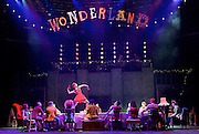 The Mad Hatter's Tea Party <br /> by Zoo Nation<br /> directed by Kate Prince<br /> presented by Zoo Nation, The Roundhouse & The Royal Opera House<br /> at The Roundhouse, London, Great Britain <br /> rehearsal <br /> 29th December 2016 <br /> <br /> <br /> <br /> Teneisha Bonner as The Queen of Hearts <br /> <br /> <br /> <br /> <br /> Photograph by Elliott Franks <br /> Image licensed to Elliott Franks Photography Services