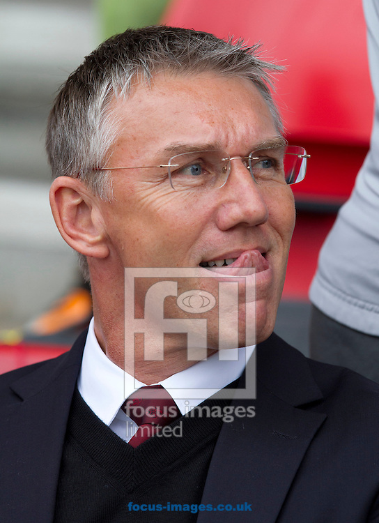 Picture by Daniel Chesterton/Focus Images Ltd. 07966 018899.28/04/12.Southampton manager Nigel Adkins during the Npower Championship match at St Mary's stadium, Southampton.