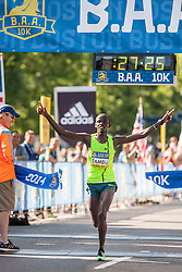 Boston Athletic Association 10K road race: Stephen Sambu wins