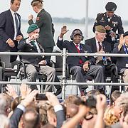 NLD/Terneuzen/20190831 - Start viering 75 jaar vrijheid, Nederlandse oorlogsveteraan orlogsveteraan Max Wolff , Amerikaanse Oorlogsveteraan Matthew Brown en Britse Roy Maxwel